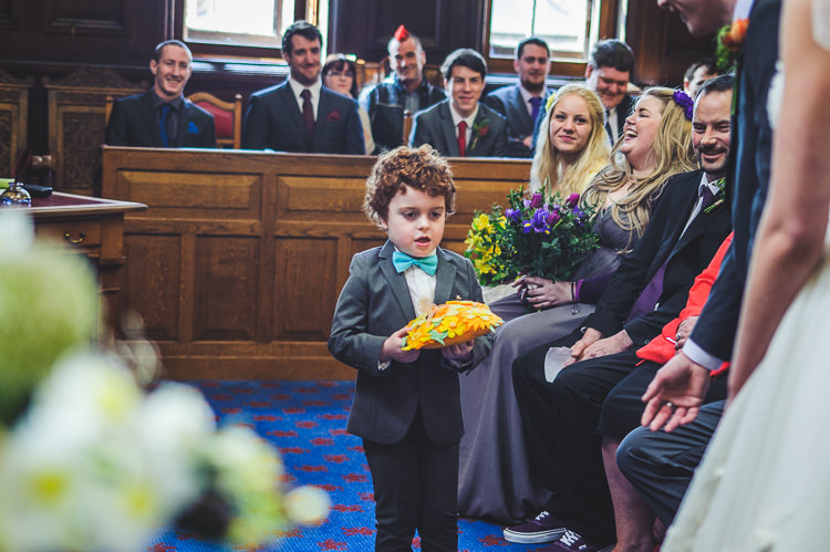 Ring Bearer Page Boy Bow Tie Bright Multicolour DIY Skater Village Hall Herefordshire Wedding http://www.robfarrellphotography.co.uk/