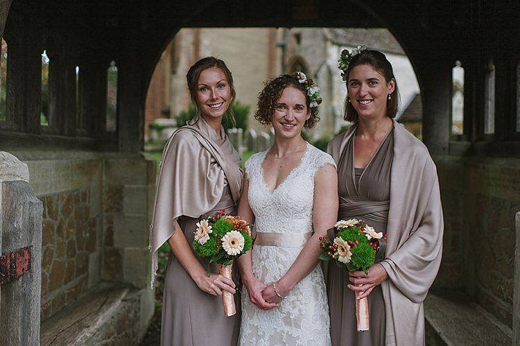 Two Birds Multi Way Bridesmaid Dresses Mocha Relaxed Rustic Autumn Barn Wedding http://karenflowerphotography.com/