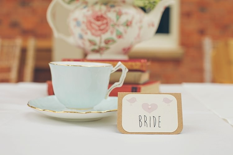 Tea Cup Place Names Setting Relaxed Happy Classic Pink Afternoon Tea Wedding http://www.firsthandphotography.co.uk/