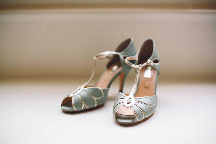 Green T Bar Vintage Rachel Simpson Shoes Cotswolds Barn Laid Back Stylish Wedding http://albertpalmerphotography.com/