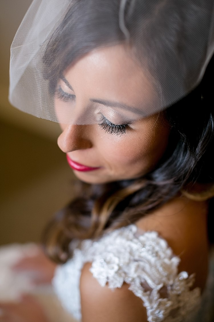 Birdcage Veil Bride Make Up Bridal Classic Red Winery Wedding Wisconsin http://www.jeanninemarie.com/