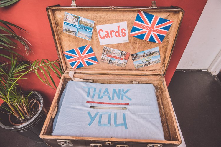 Suitcase Cards Brighton Rocks Vintage 1950s Kiss Me Quick Red White Blue Wedding http://www.neilwilliamshaw.co.uk/