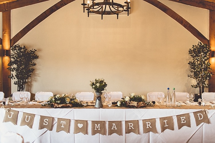 Top Table Rural Rustic Relaxed Barn Wedding http://annaclarkephotography.com/