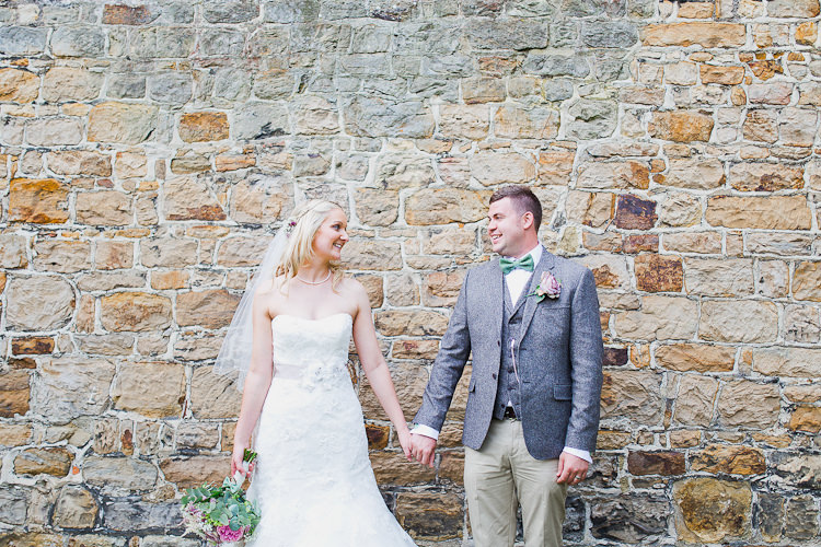 Tweed Bow Ties Fresh Country Pink Green Wedding http://www.whitestagweddings.com/