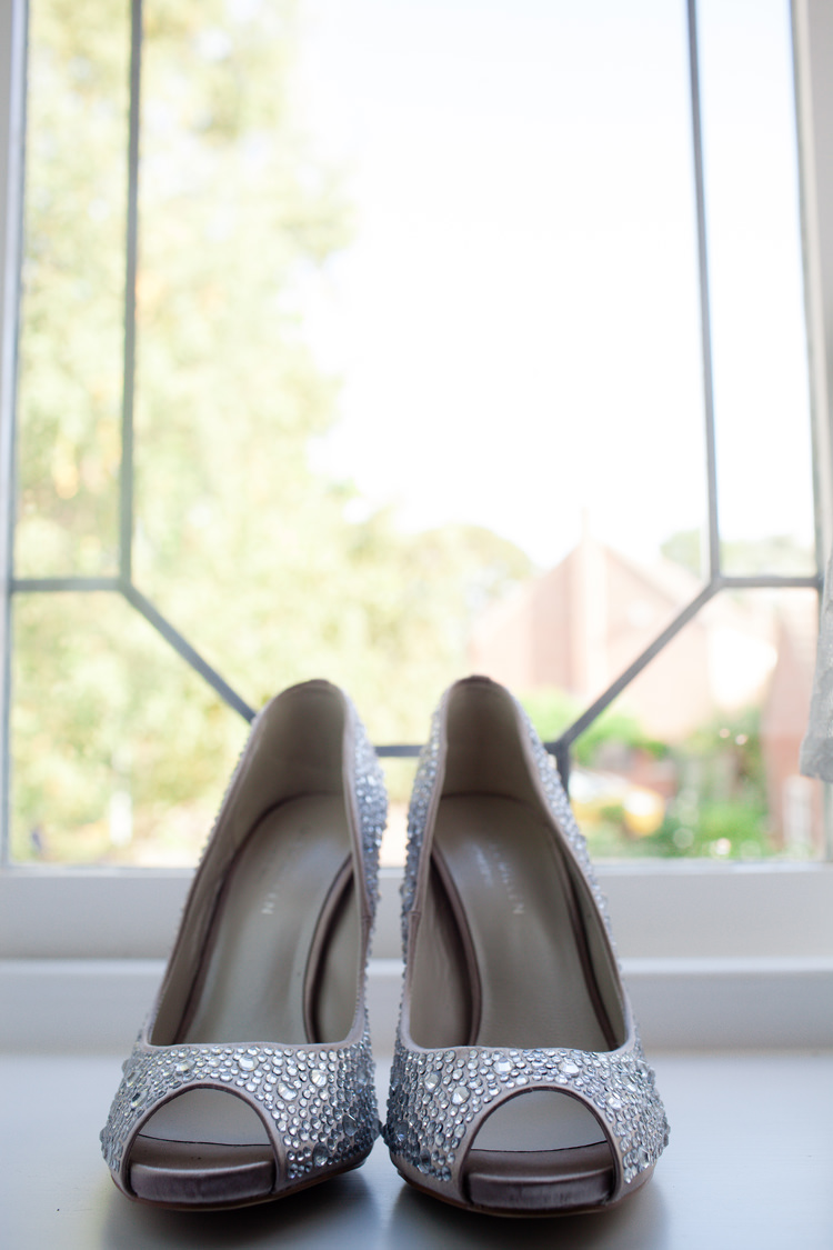 Diamante Shoes Bride Bridal Peep Toe Vintage Blue Country Farm Wedding http://kathrynedwardsphotography.com/