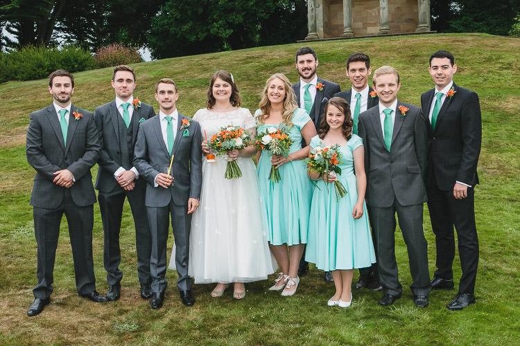 Lovely DIY Orange Amp Mint Conservatory Wedding Whimsical