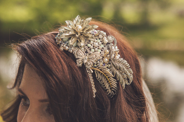 Vintage Hair Band Bride Bridal Accessory Quirky Relaxed Yellow Country Wedding http://www.mr-and-mrs-wedding-photography.co.uk/