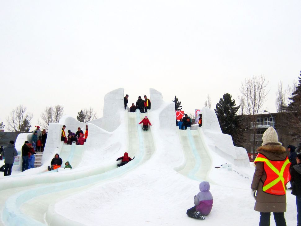 The slide at Ice on Whyte