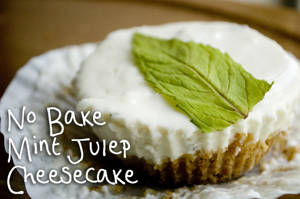No Bake Mint Julep Cheesecake