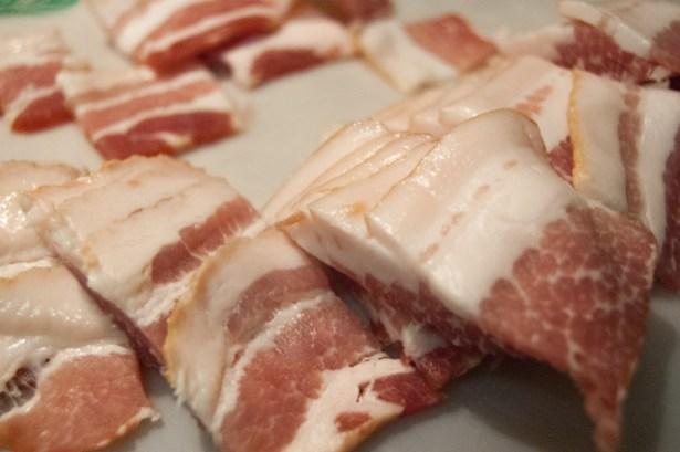 raw bacon prep work