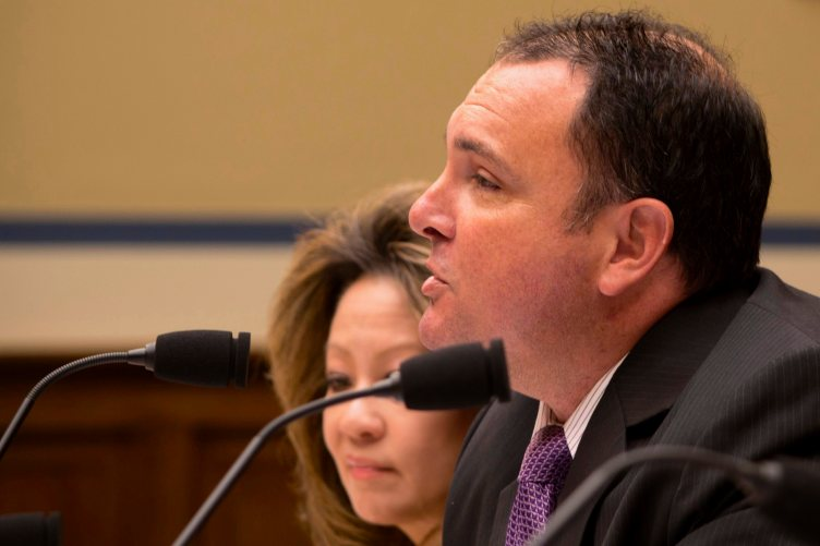 Robert MacLean testifies to Congress. Photo by Linda Lewis