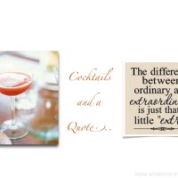 Cocktails And A Quote