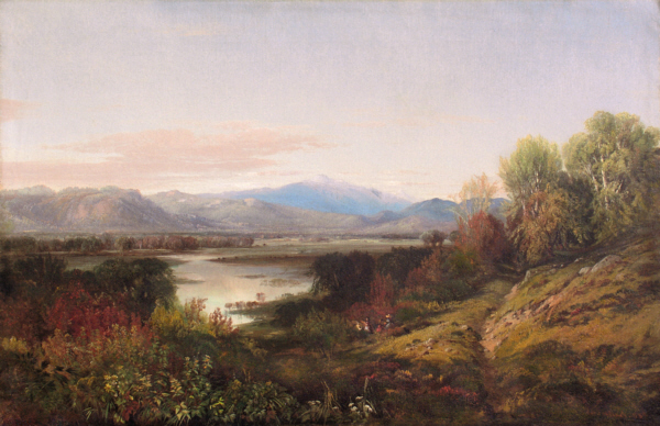 Mount Washington and the Saco River from North Conway by Aaron Draper Shattuck