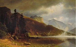Echo Lake, Franconia Notch by Albert Bierstadt