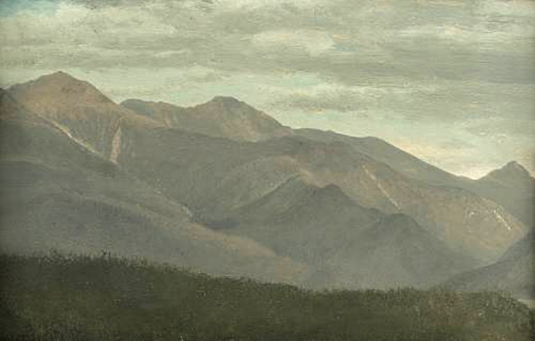 Mount Lafayette, Lincoln, and Liberty in Franconia Notch by Albert Bierstadt