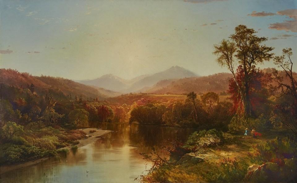 Mount Washington and Mount Madison from Shelburne by Aaron Draper Shattuck