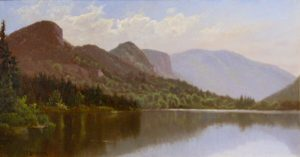 Eagle Cliff from Echo Lake, Franconia Notch by Alfred Thompson Bricher