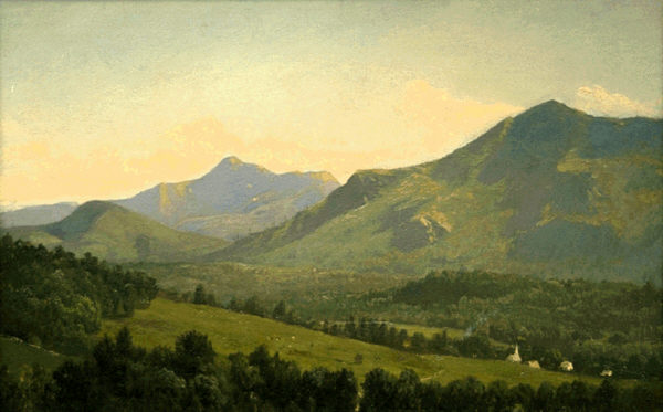 Moat Mountain and Mount Chocorua by Alfred Thompson Bricher