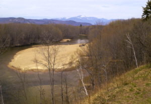 Mount Washington and the Saco River from North Conway