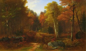 Autumn Landscape by Benjamin Champney