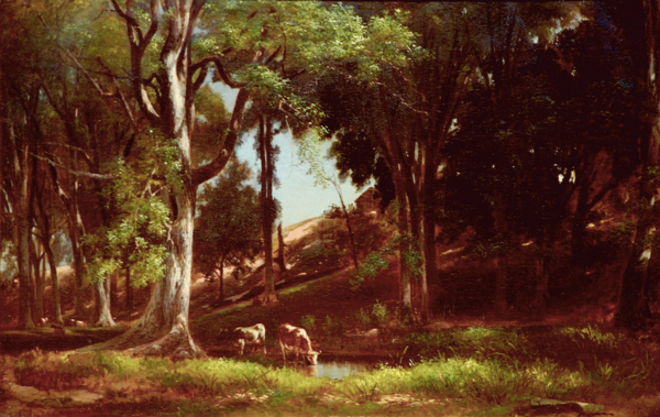 Artist Brook below Old Mill Site by Benjamin Champney