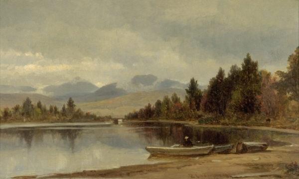 Mount Passaconaway and Mount Paugus from Chcorua Lake by Benjamin Champney