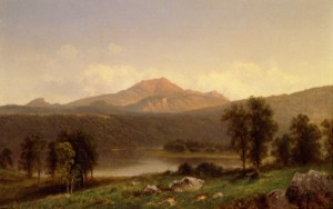Eagle Cliff and Mount Lafayette from Franconia by David Johnson