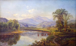 Mount Washington and the Saco River from the Intervale, North Conway by Edmund Darch Lewis