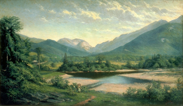 Franconia Notch from  North Woodstock by George Albert Frost