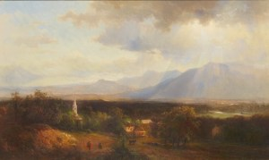 Mount Chocorua and Moat Mountain from Sunset Hill, North Conway by Hermann Traugott Louis Fuechsel