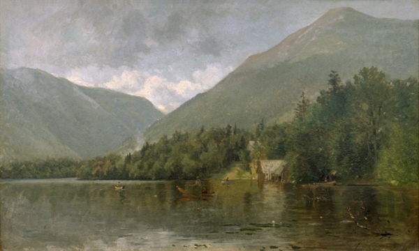 Fishing on Echo Lake, Franconia Notch by Samuel Lancaster Gerry