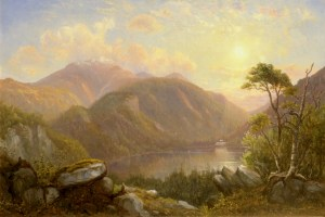 Mount Lafayette and Echo Lake, Franconia Notch by Sylvester Phelps Hodgdon