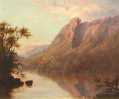 Eagle Cliff from the Outlet of Profile Lake by Sylvester Phelps Hodgdon
