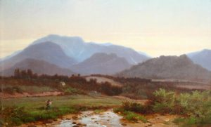 Franconia Notch and Mount Lafayette from Franconia by Albert Fitch Bellows