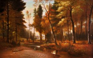 Picnic on Artist Brook by Benjamin Champney