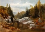 Saco River Gorge in Crawford Notch near Notchland by Benjamin Champney