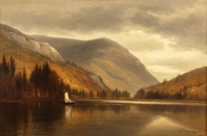 Crawford Notch with Mount Webster, Elephant's Head, and Saco Lake by Benjamin Champney