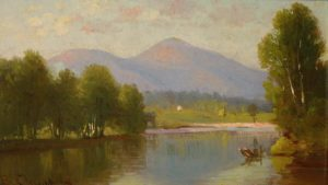 Mount Kearsarge from the Saco River by Benjamin Champney