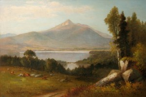 Mount Chocorua from Chocorua Lake in Tamworth by Benjamin Champney