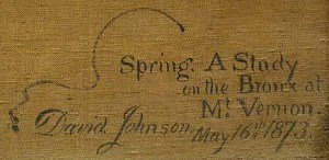 Spring. A Study / on the Bronx at / Mt. Vernon. / David Johnson May 16th. 1873
