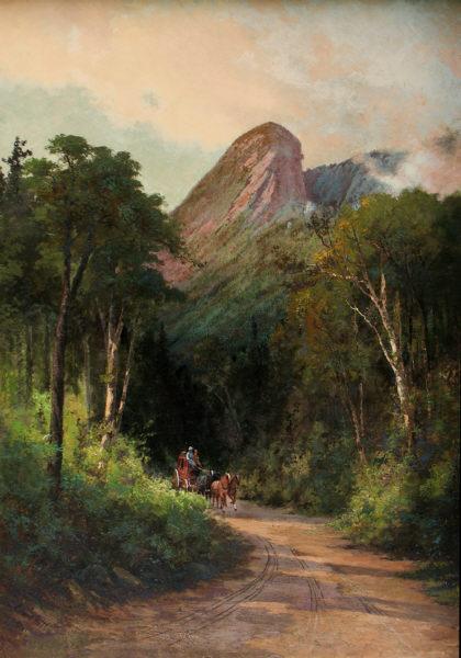 Eagle Cliff, Franconia Notch by Edward Hill