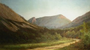 Eagle Cliff and Franconia Notch from the Base of Profile Mountain by Edward Hill