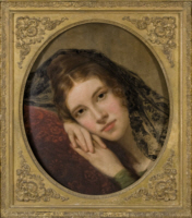 Fanny Appleton, oil on panel, 1834 by George Peter Alexander Healy (1813-1894)