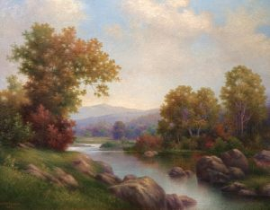 Autumn on the Ammonoosuc River by George McConnell