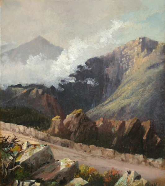 Mounts Adams and Jefferson from the Mount Washington Carriage Road by Harrison Bird Brown