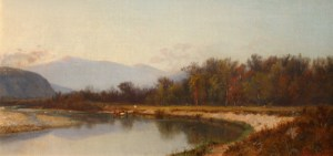 Mount Washington from the Saco River, North Conway by John Henry Dolph