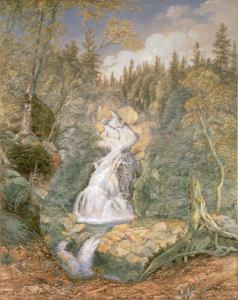 Crystal Cascade, Pinkham Notch by John William Hill