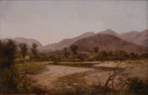 Franconia Notch from North Woodstock by Robert Spear Dunning