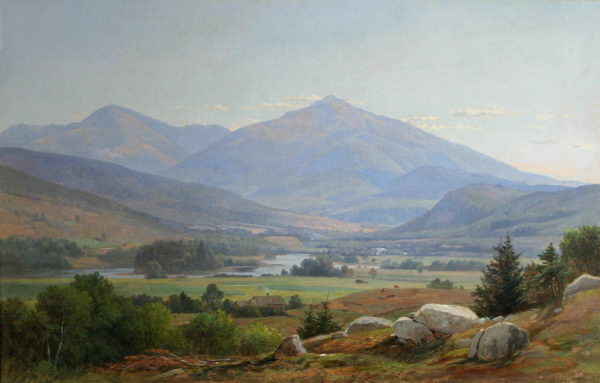 Mount Washington and Mount Madison from Shelburne by Samuel Lancaster Gerry