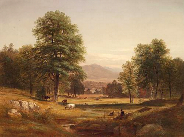 Mount Shaw from  Center Harbor by Samuel Lancaster Gerry
